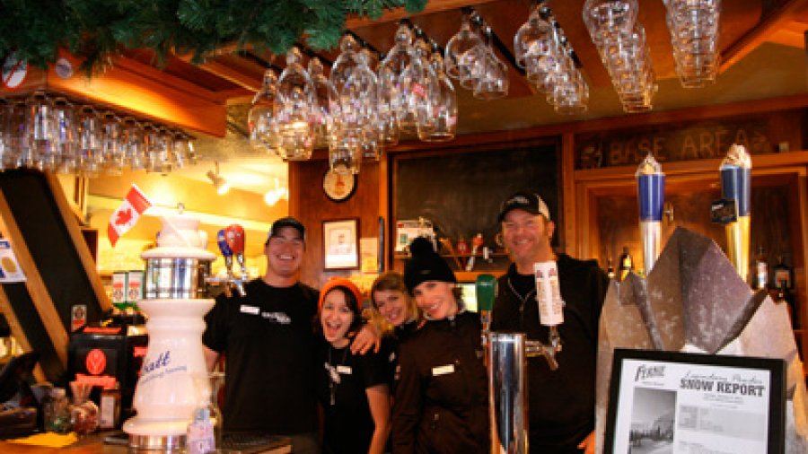 Griz Bar staff at Fernie Alpine Resort